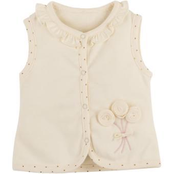 Idilbaby Gots Organic Girl Baby Helen Cream Vest