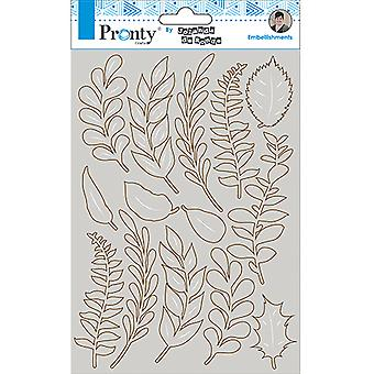 Pronty Crafts Leaves A5 Chipboard