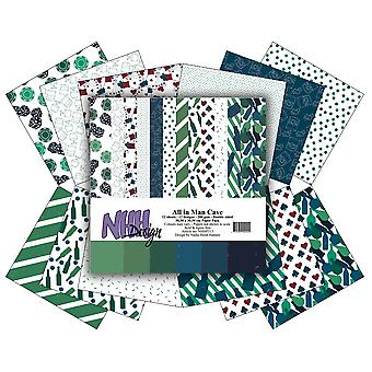 NHH Design All in One Man Cave 12x12 Inch Paper Pack