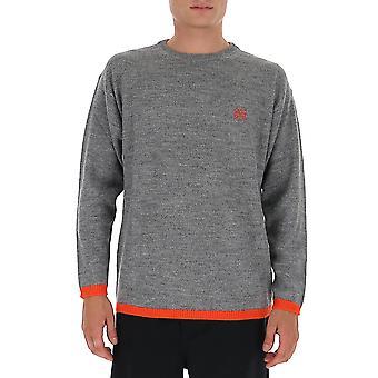 Loewe H526333x601146 Men's Grey Wool Sweater