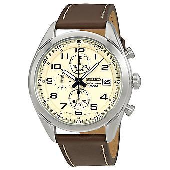 Seiko SSB273P1 Chronograph Crema Dial Hombres's Reloj