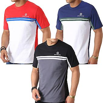 Sergio Tacchini Mens Carey Casual Cotton Crew Neck Contrast T-Shirt Top Tee