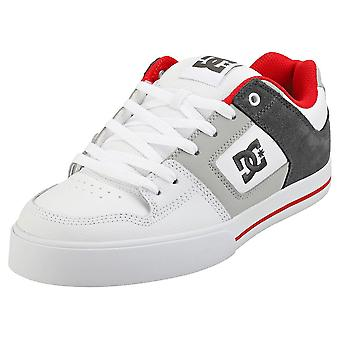 DC Shoes Pure Mens Skate Trainers in White Red Grey