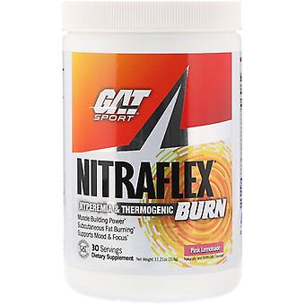 GAT, NITRAFLEX BURN, Roze Limonade, 11,21 oz (318 g)