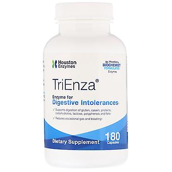 Houston Enzymes, TriEnza, Enzyme pour les intolérances digestives, 180 capsules