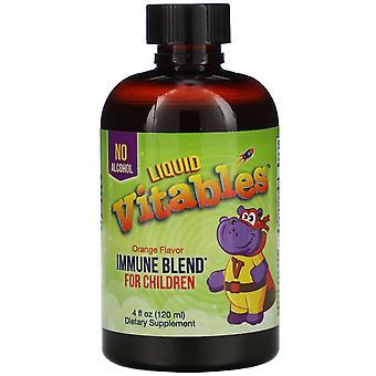 Vitables, Liquid Immune Blend for Children, No Alcohol, Orange Flavor, 4 fl oz (