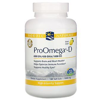 Nordic Naturals, ProOmega-D, Lemon, 180 Soft gels