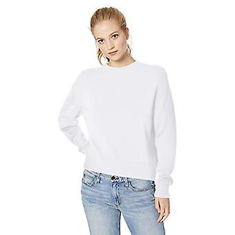 Brand - Daily Ritual Women's 100% Cotton Long-Sleeve Crewneck Pullover Sweater, White, XX-Large