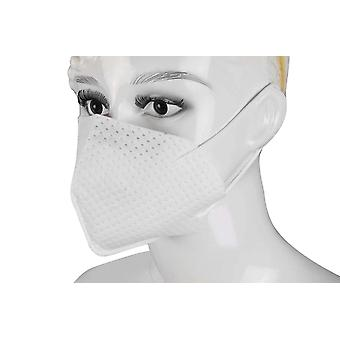 Pack of 2 Unisex White Reusable Protective Cloth Masks - 4 Layered Material