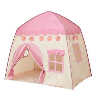 Kids Indoor Outdoor Castle Tent Baby Princess Game House, Flowers Blossoming