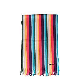 Paul Smith M1a650eas1096 Men's Multicolor Wool Scarf