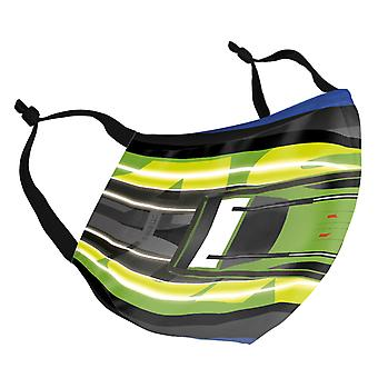 Fast and Furious Green Car Slipstream Adult Reusable Fabric Face Mask