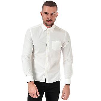 Men's C.P. Company Pocket Logo Shirt em Branco
