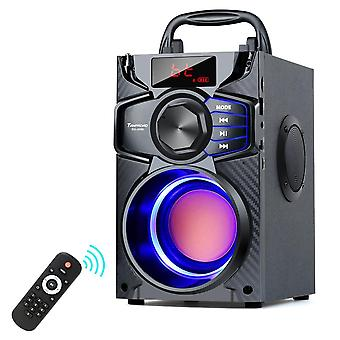 Bluetooth 10w Portable Wireless Stereo Bass Big Party Speakers Subwoofer Column Support Fm Usb Remote Control