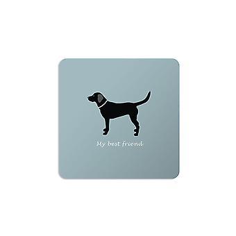 Bailey and Friends Dog Coaster Labrador Blue