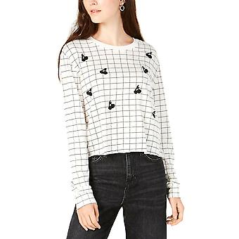 Carbon Copy | Juniors' Grid Cherry-Graphic Top