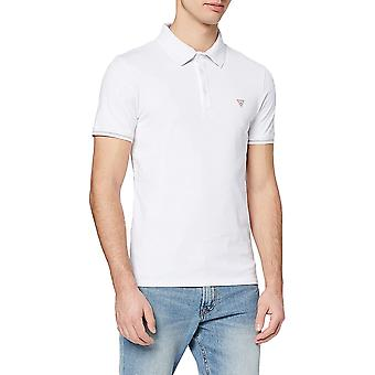 Guess Stretch Cotton Polo Shirt - White