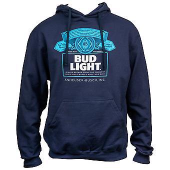 Bud Light Garrafa Rótulo Navy Blue Hoodie