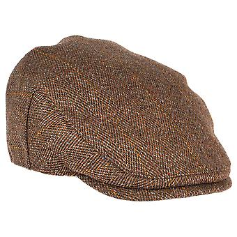 ZH010 (AUTUMN GREEN S 56cm ) Fox Derby Tweed Flat Cap