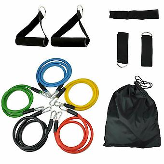 Yoga Abs Exercise Fitness Tube Workout Bands Set