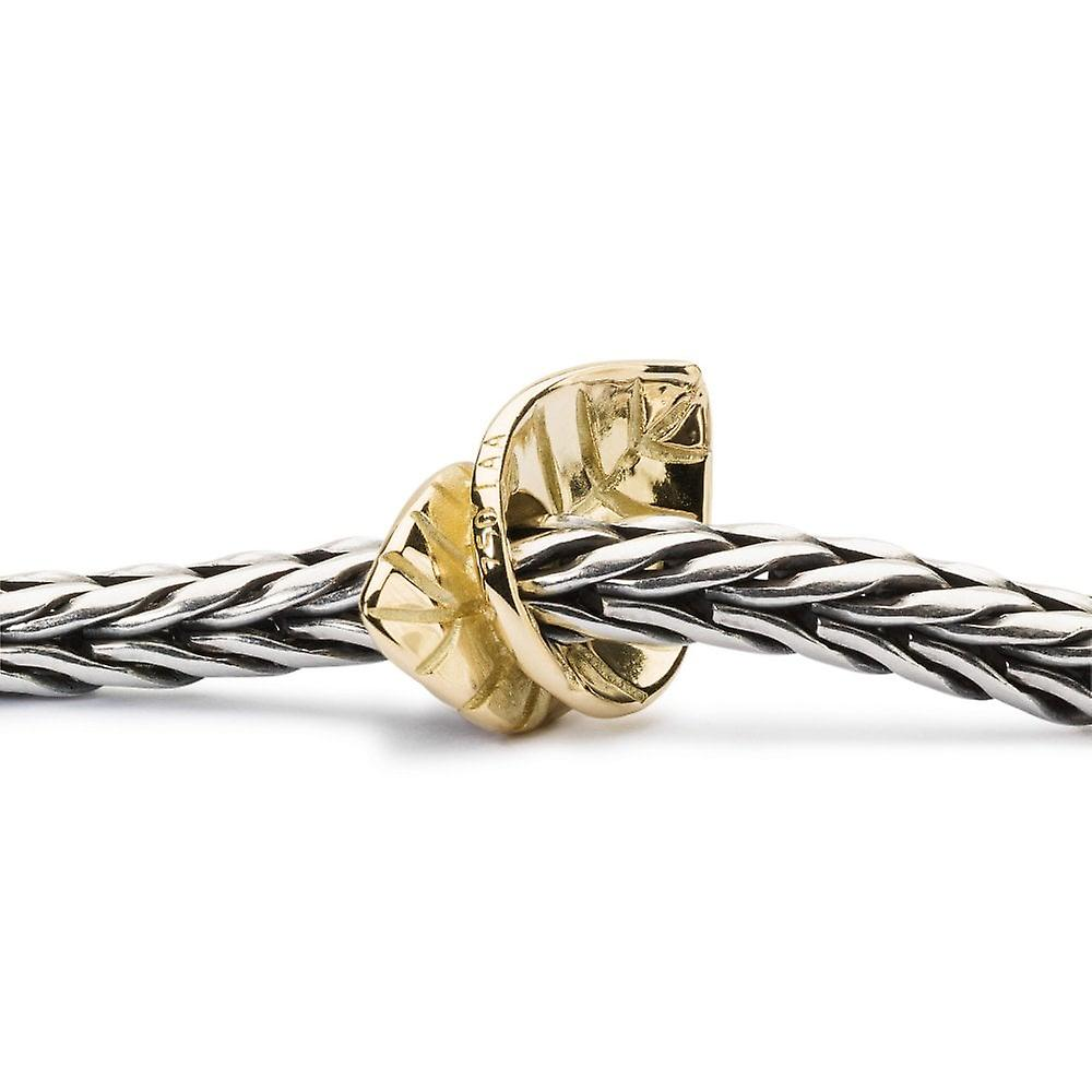 Trollbeads Golden Leaves Gold Perle TAUBE-00121