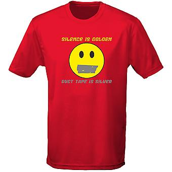 Silence Is Golden Duct Tape Is Silver Mens T-Shirt 10 Colours (S-3XL) by swagwear