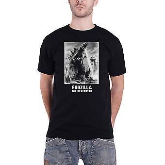 Godzilla T Shirt Godzilla the destroyer Logo  new Official Mens Black