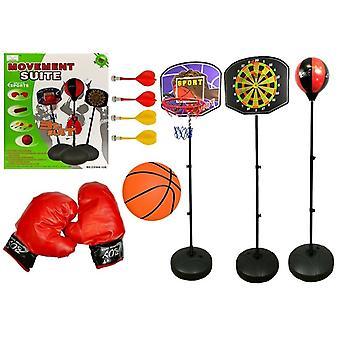 Set Sportspellen 3in1 Basketball Darts Boxing