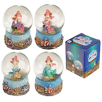 Fun Collectable Mini Mermaid Snow Globe X 1 Pack