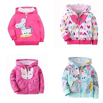 Baby Jacket Long Sleeve Hooded Fashion Tops Zipper Cotton Clothing