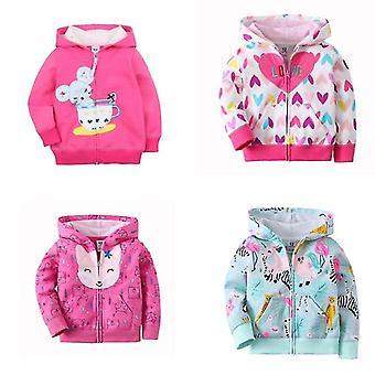 Baby jacka, långärmad Hooded, Mode Toppar Blixtlås, bomull kläder