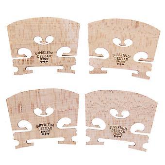 Ponts de violon en bois d'érable de 4pcs pour la taille 4/4-3/4, instrument de musique de violon