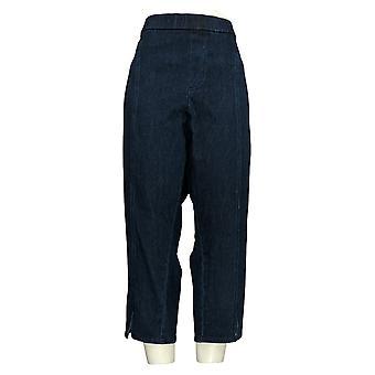 Isaac Mizrahi Live! Women's Petite Jeans Front Slit Blue A354839