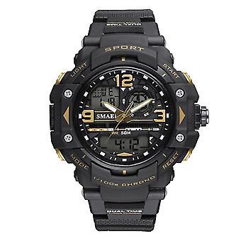 SMAEL 1379B Kalender LED Digital Uhr Outdoor Dual Display männliche Armbanduhr