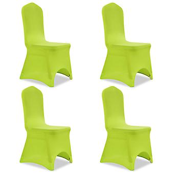 Stretch chair cover 4 pieces green
