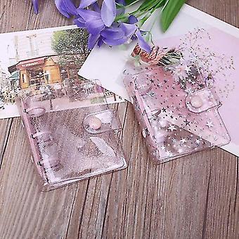 Transparent Pvc Star 3 Holes Loose Leaf Binder Notebook Cover