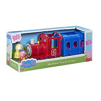 Peppa Pig Miss Rabbits Train et chariot