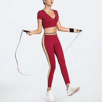 Ladies Striped slim Yoga Fitness Sports Suit YJ018