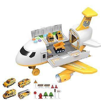 צעצוע של מטוסים מוסיקה סיפור סימולציה מסלול אינרציה ילדים צעצוע מטוס נוסעים בגודל גדול מטוס נוסעים צעצוע מכונית
