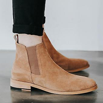 Authentic Pure Leather Chelsea Luxuries Sand Boots