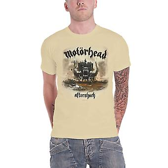 Motorhead T Shirt Aftershock War Pig mens Beige Album new Official