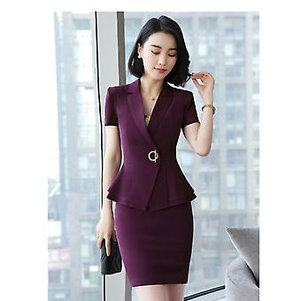 Formal Uniform Styles Blazers Suits With Tops And Skirt For Ladies, Office Work