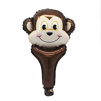 Handheld Bar Animal Head - Stall Scan Code Activity Foil Balloon