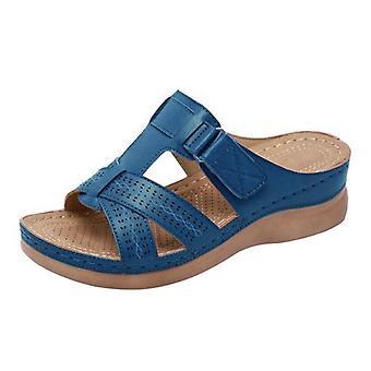 Mujeres's verano abierto dedo del pie sandalias cómodas Super suave premium ortopédica tacones bajos