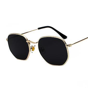 Square Metal Frame Sunglasses Pilot Mirror Classic Retro Sun Glasses