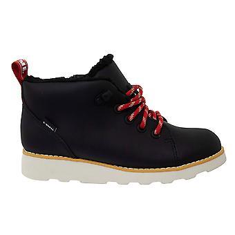 كلاركس تور المتجول K أسود أحمر الجلود الدانتيل حتى الأطفال أحذية المشي لمسافات طويلة 261433137
