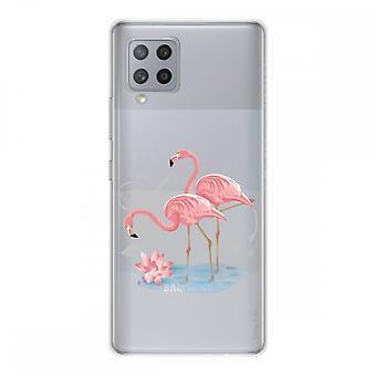 Scafo per Samsung Galaxy A42 5g Silicone Soft 1 Mm, Rosa Flamingo