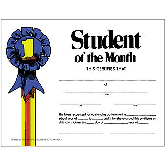 """Student Of The Month Certificate, Pack Of 30, 8.5"""" X 11"""""""