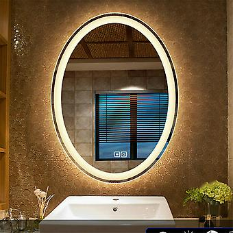 600x800mm Led Illuminated Bathroom Mirror Oval Demister for Making Up