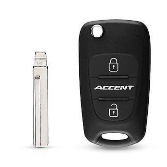 Remote Car Key Shell 3 Bt Flip Taittoavainkotelo Hyundaille